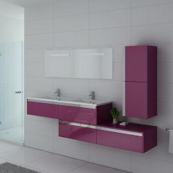 Meubles salle de bain BELLISSIMO AU Aubergine
