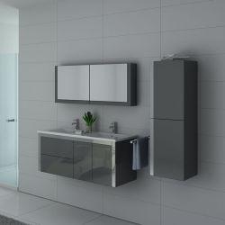 Ensemble complet de meubles de salle de bain gris modernes DIS025-1500GT