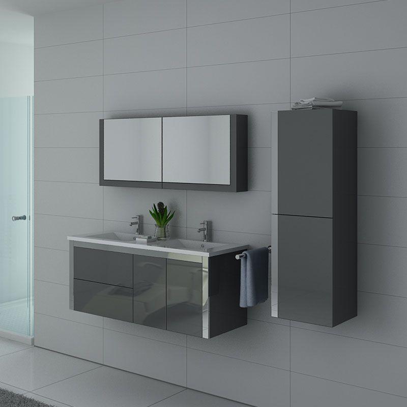 Meubles salle de bain DIS025-1200GT gris taupe