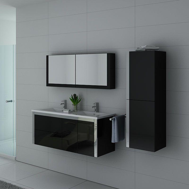 Meubles salle de bain DIS025-1200N noir
