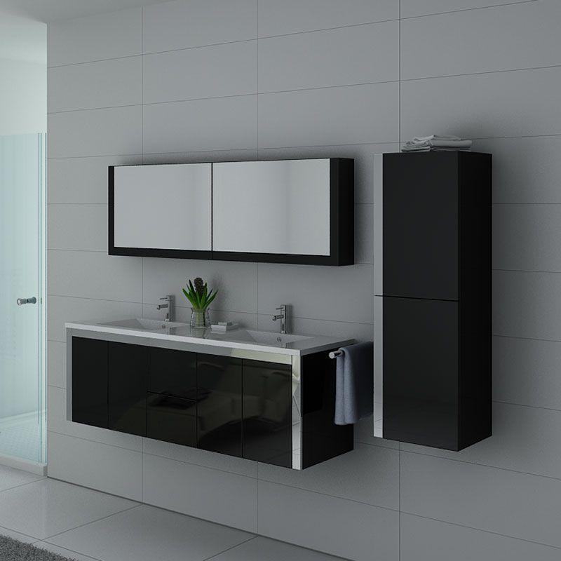 Meubles salle de bain DIS025-1500N Noir