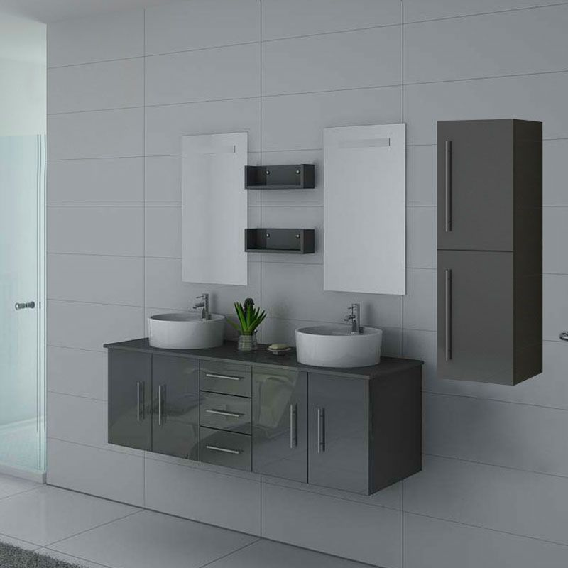 Meubles salle de bain DIS747GT Gris Taupe