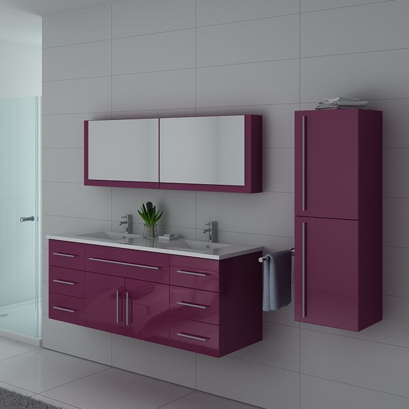 Meubles salle de bain DIS749AU Aubergine