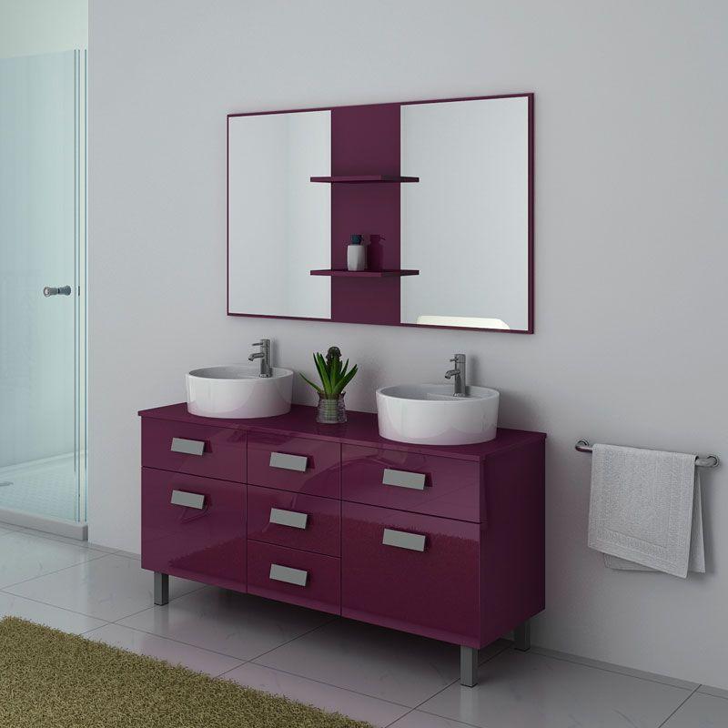 Meubles salle de bain DIS911AU Aubergine