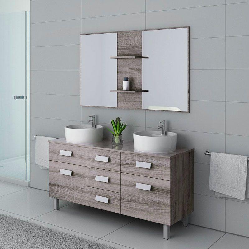 Meubles salle de bain DIS911CG Chêne Gris