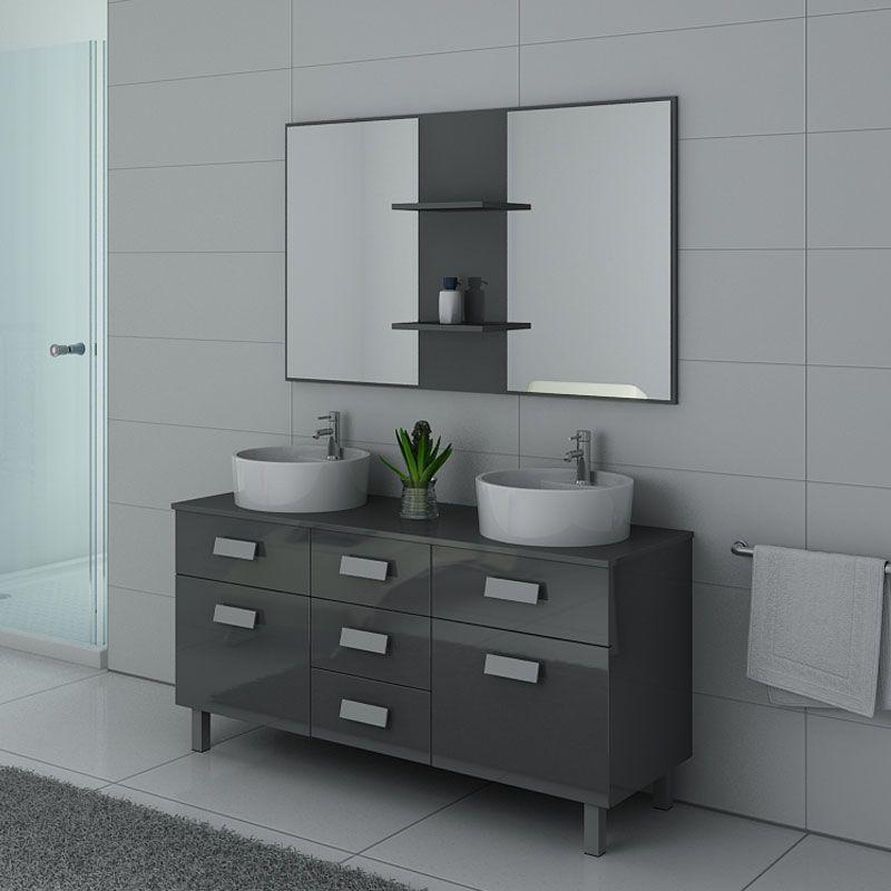 Meubles salle de bain DIS911GT gris taupe