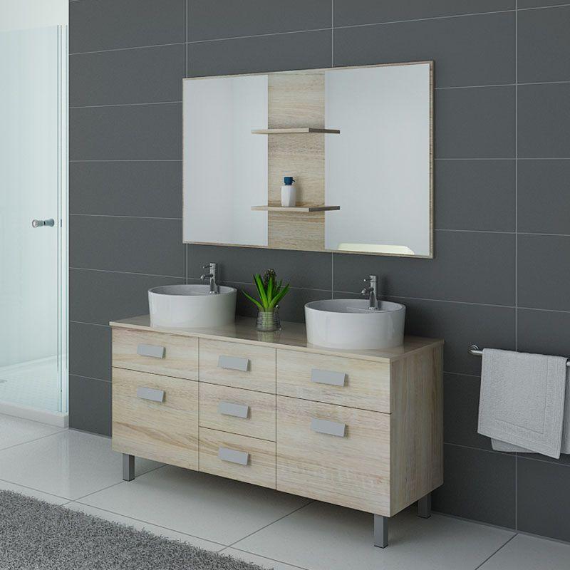 Meuble de salle de bain sur pieds double vasque meuble de - Meuble vasque double salle de bain ...