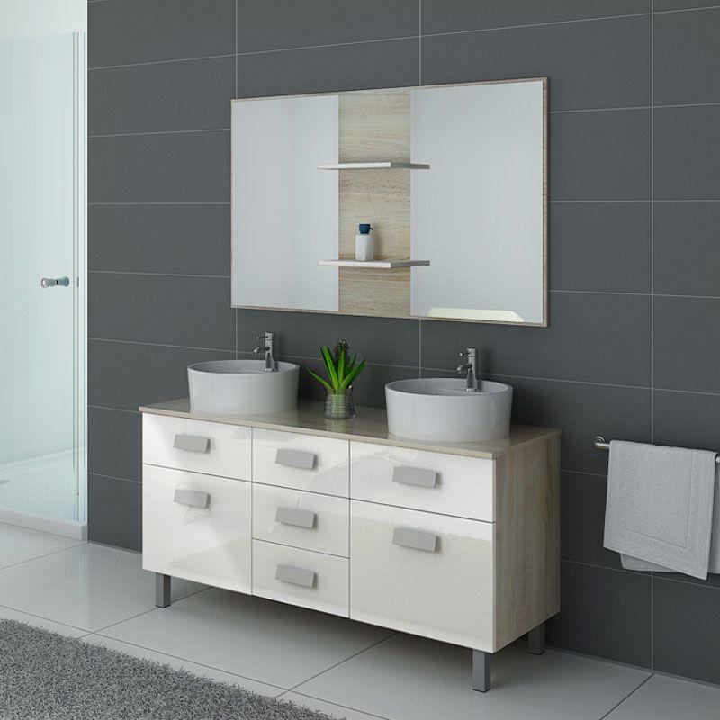 Meubles salle de bain DIS911SC-B Scandinave et blanc