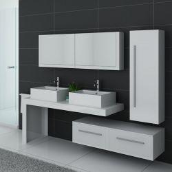 Meuble salle de bain DIS9350B blanc