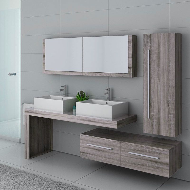 meuble de salle de bain ch ne gris meuble de salle de. Black Bedroom Furniture Sets. Home Design Ideas