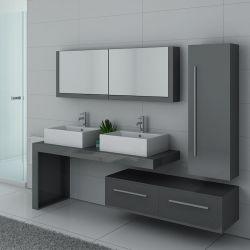Meubles salle de bain DIS9350 gris taupe