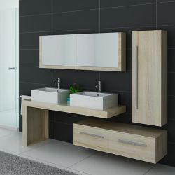 Meubles salle de bain double vasque DIS9350SC Scandinave