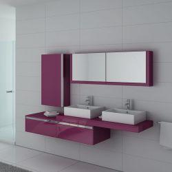 Meubles salle de bain DIS9551AU Aubergine