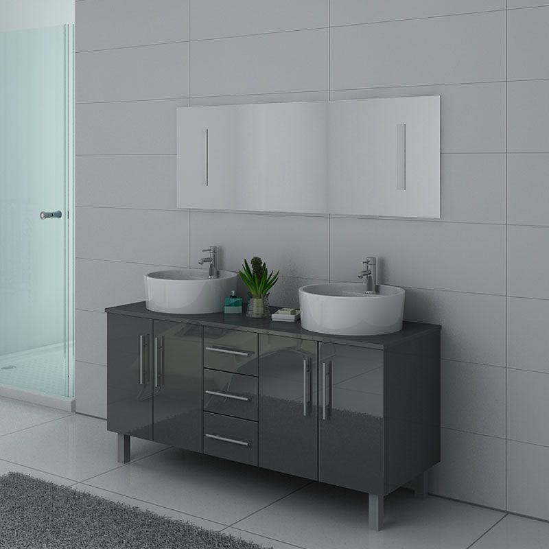 Meubles salle de bain DIS989GT gris taupe