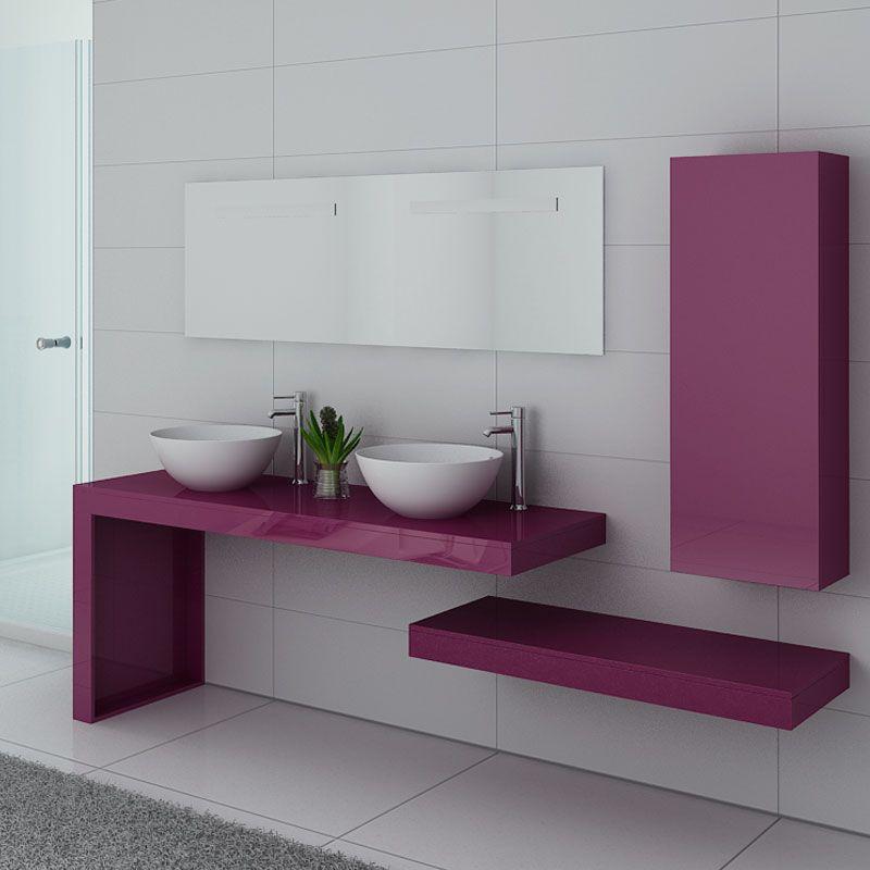 Ensemble de salle de bain MONZA DUO Aubergine