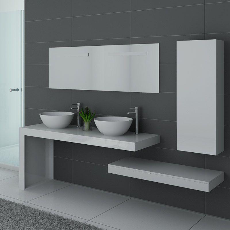 Ensemble de meubles de salle de bain MONZA DUO Blanc