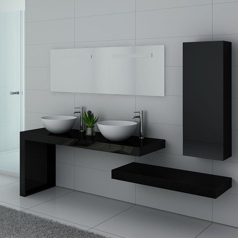 Ensemble de meubles pour salle de bain MONZA DUO Noir