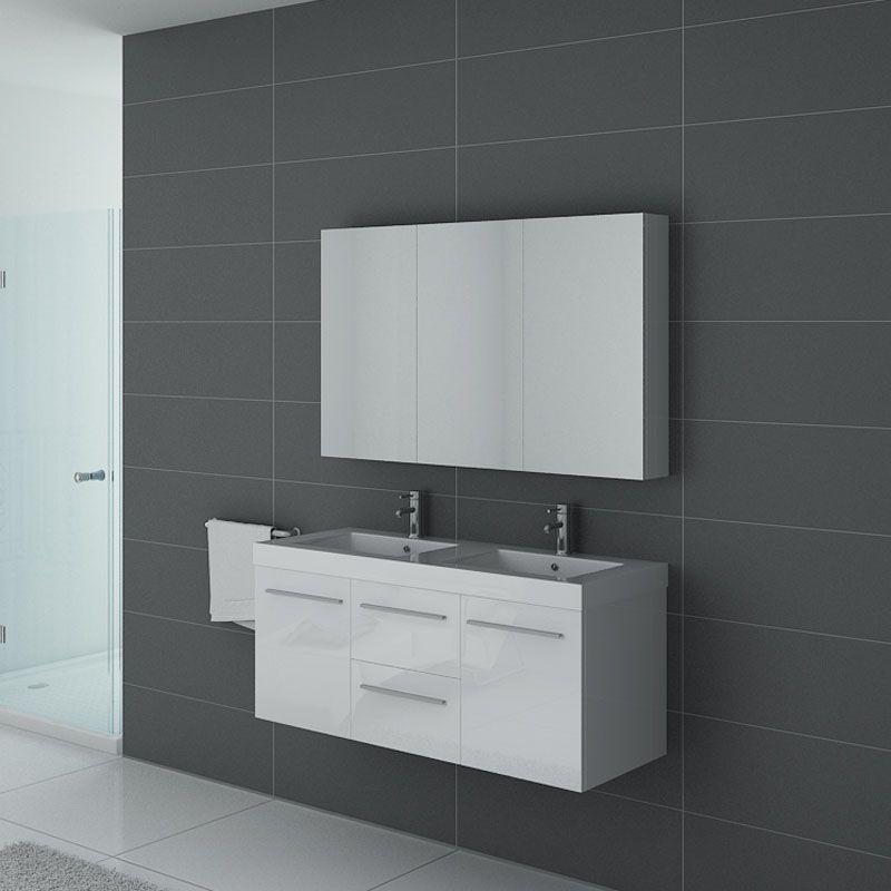 Meubles salle de bain PALERME B Blanc conçu par Distribain