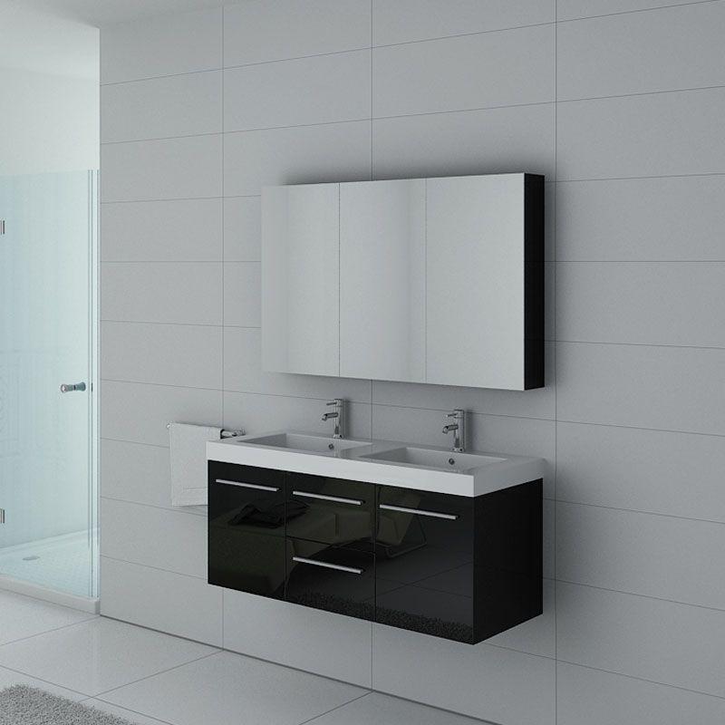Meubles salle de bain PALERME N Noir - Salledebain Online