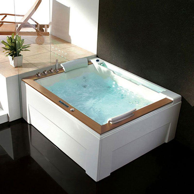 Belle baignoire balneo rectangulaire Haraiki Gauche