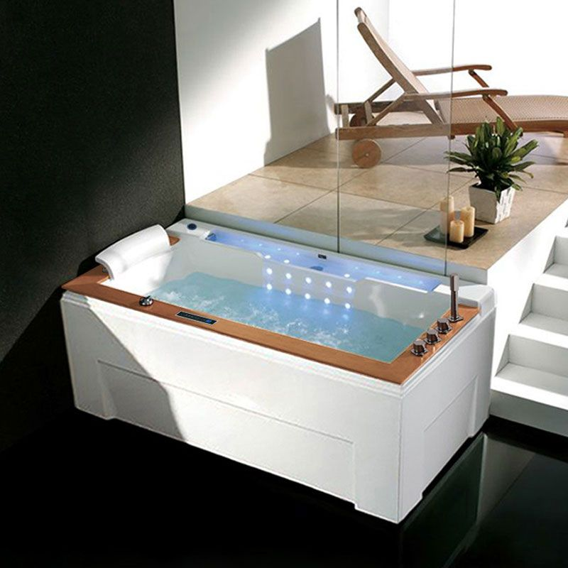 Belle baignoire balneo rectangulaire Sumba Gauche