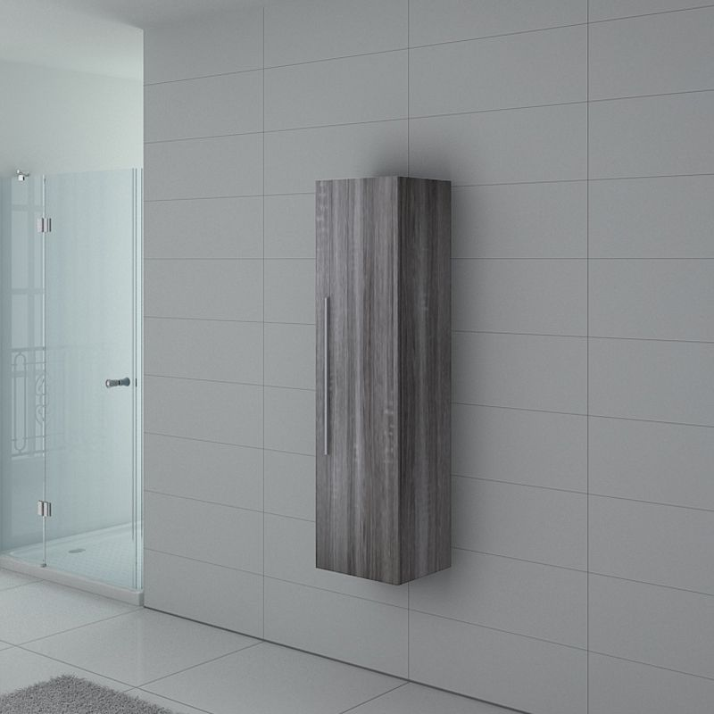 Meuble colonne PAL150CG salle de bain Chêne Gris