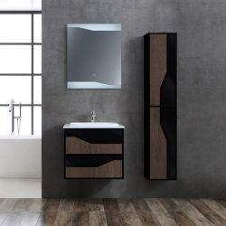 Meuble salle de bain URBINO 600 Chêne Foncé et Noir