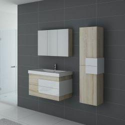 Meuble salle de bain ARCOLA Scandinave et blanc