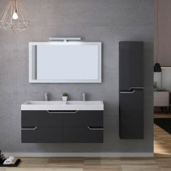 Ensemble double vasque CALABRO 1200 Gris Anthracite