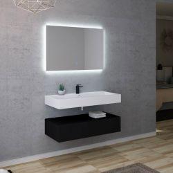 Meuble de salle de bain 1 vasque AVELLINO 1000N