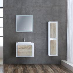 Meuble salle de bain ROVIGO 600 Scandinave et Blanc