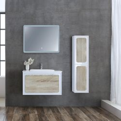 Meuble salle de bain ROVIGO 800 Scandinave et Blanc