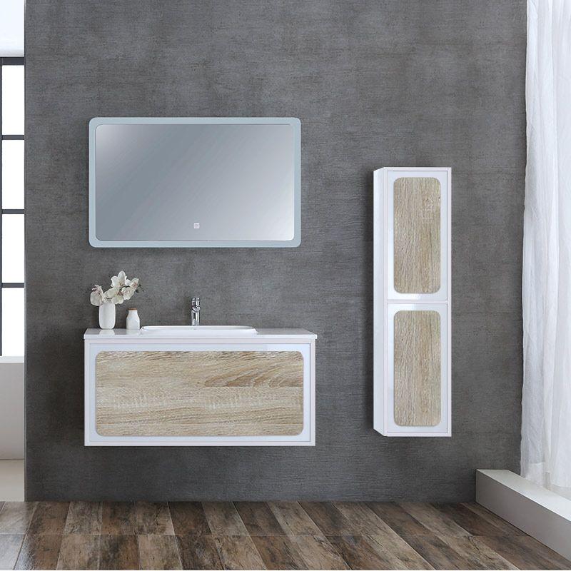 Meuble salle de bain ROVIGO 1000 Scandinave et Blanc