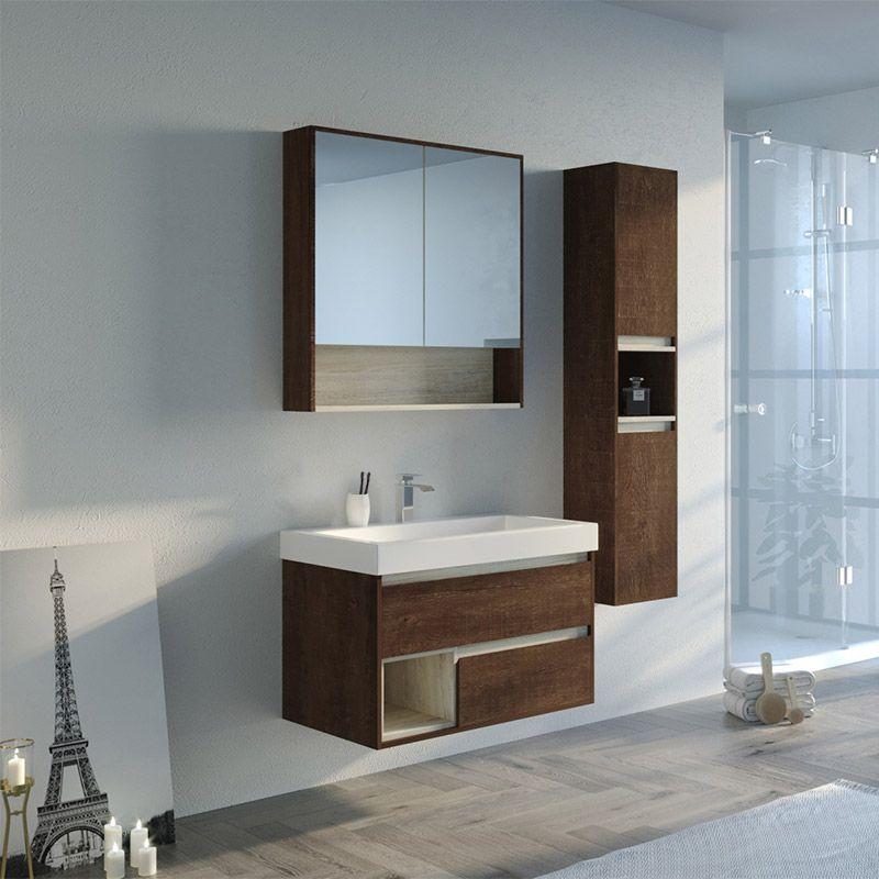 Ensemble meuble simple vasque ANZIO 800
