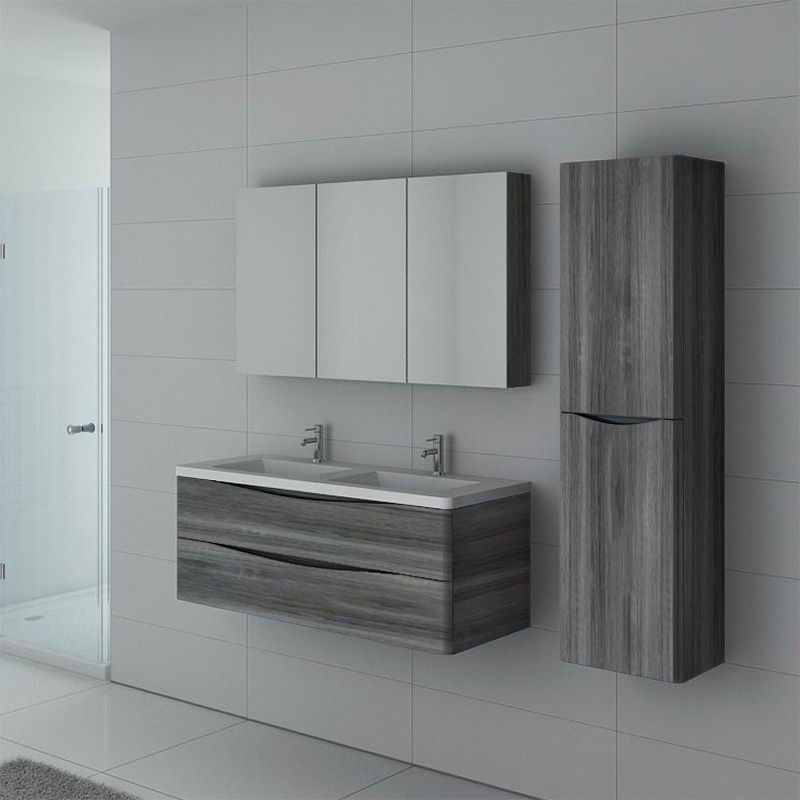 Meuble salle de bain TREVISE 1200 Chêne gris