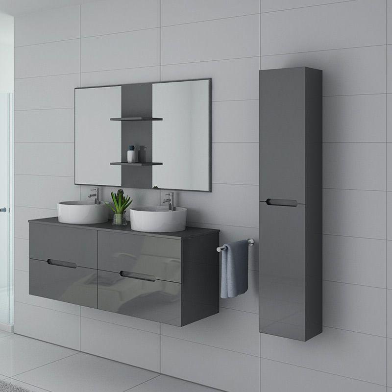 Meubles salle de bain RIVALTO Gris Taupe
