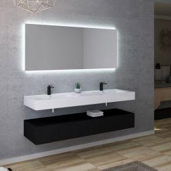 Meuble double vasque design épuré AVELLINO 1600N