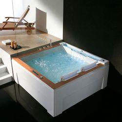 Plan d'implantation baignoire balnéo carrée G-Mataiva