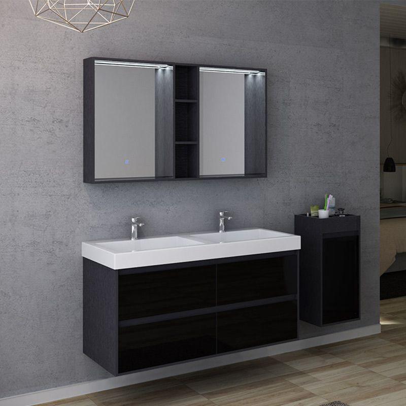 Meuble salle de bain design noir BRIANZA 1200