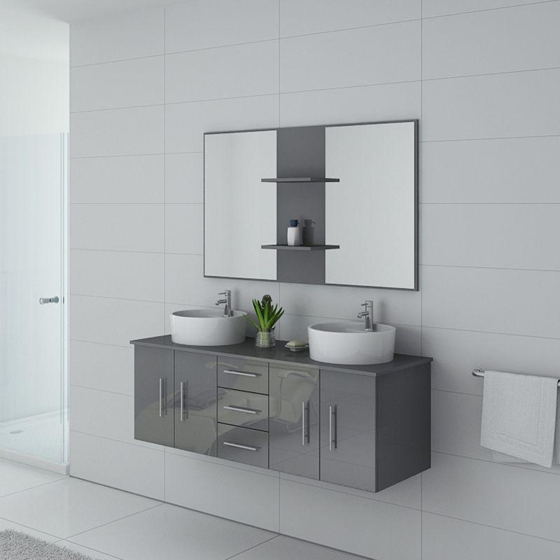 Meuble salle de bain CARSOLI Gris Taupe