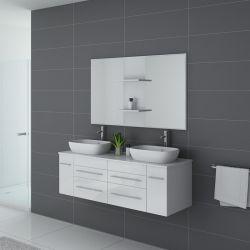 Meuble blanc de salle de bain TRIVENTO Blanc