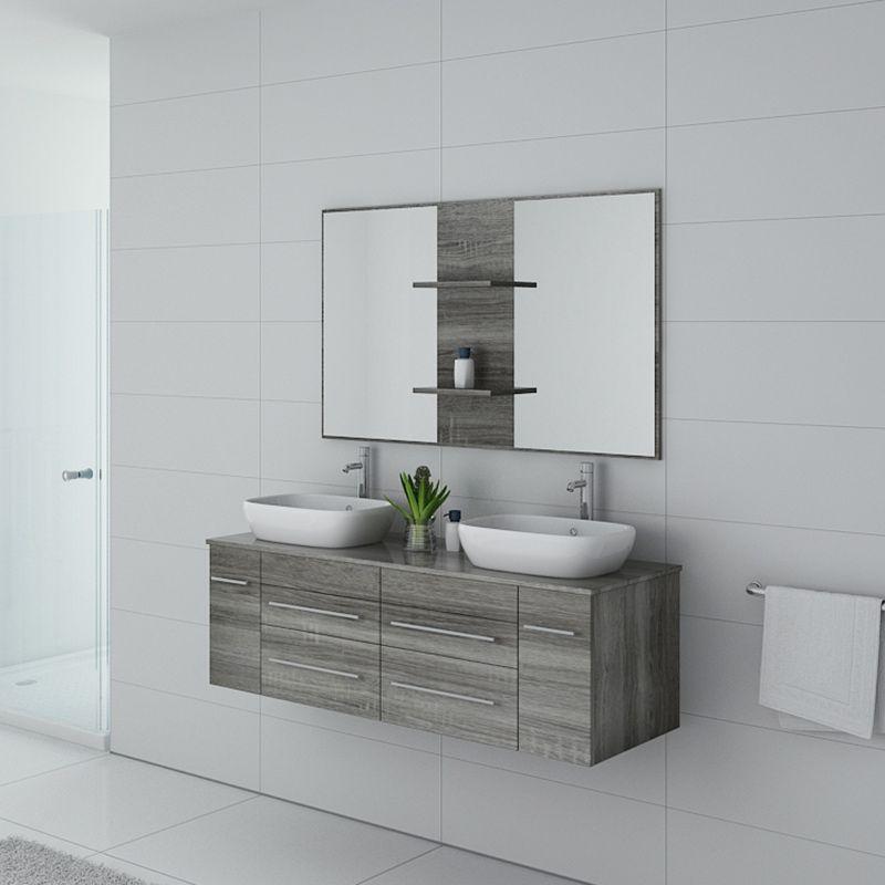 Meuble salle de bain TRIVENTO Chêne Gris
