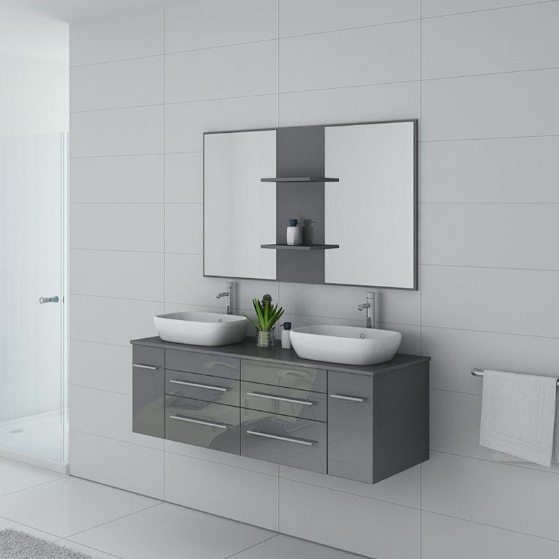 Meuble salle de bain TRIVENTO Gris Taupe