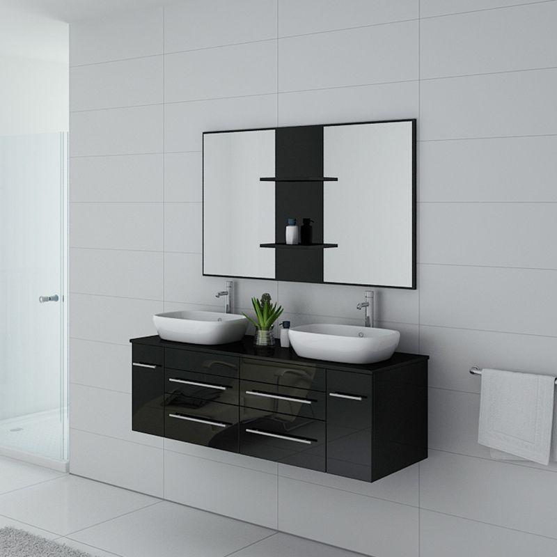 Meuble salle de bain TRIVENTO Noir