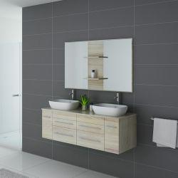 Meuble salle de bain ambiance nordique TRIVENTO Scandinave