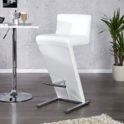 Tabouret de bar blanc AIR