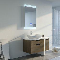 Meuble salle de bain SCARLINO 1000 Chêne Grisé avec vasque céramique