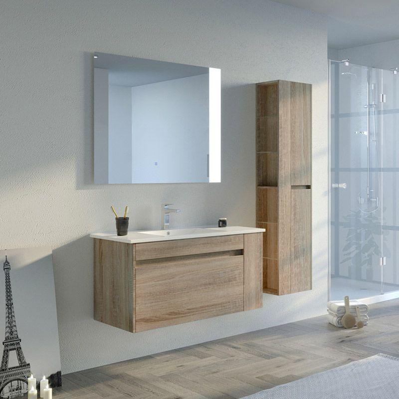 Meuble de salle de bain 1 vasque BOVALINO 1000