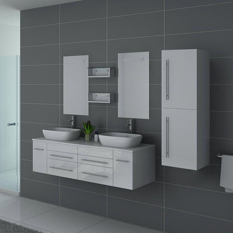 Meubles salle de bain DIS748B blanc