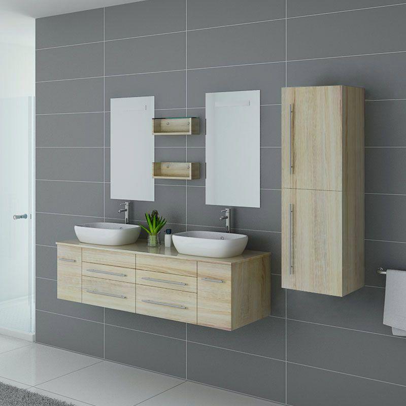 Meubles de salle de bain double vasque DIS748SC Scandinave